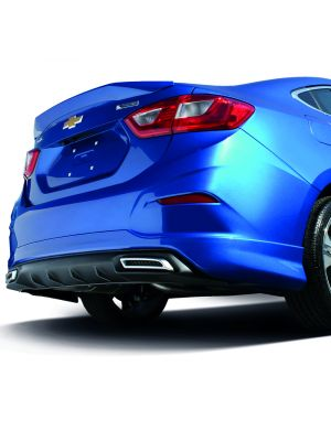 CRUZE 2016-2018 REAR SKIRT W/DIFFUSER AND DECORATIVE EXHAUST TIPS